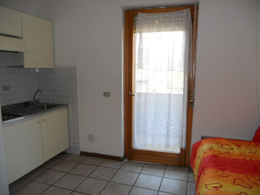 Kitchenette with sofa area