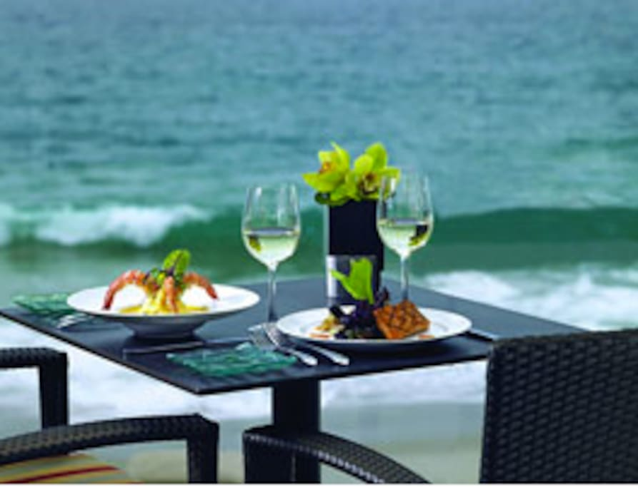 The Surf and Sand Hotel is accessible if you so desire.