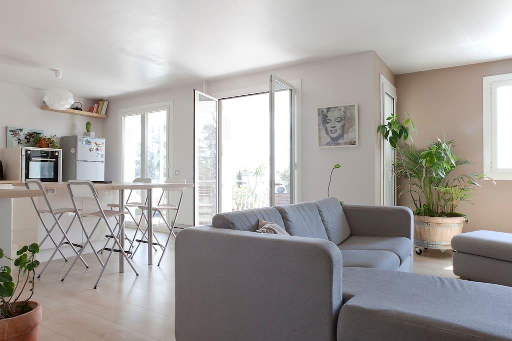 Une grande pièce à vivre / a large living-room