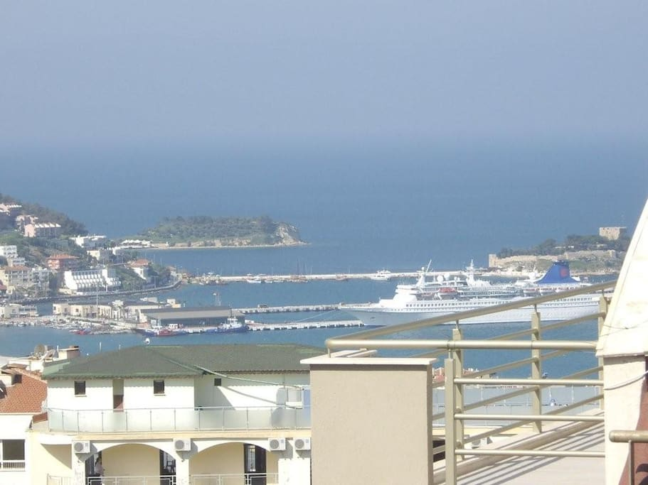 terrace-view on the harbour