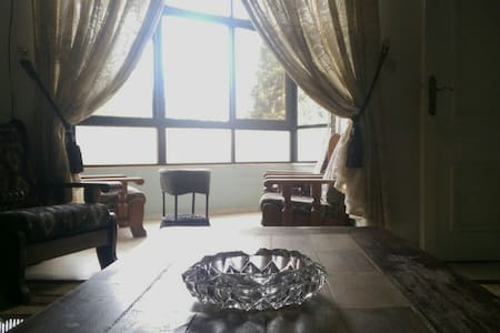 The apartment is in old Amman, it's overlooking a good part of Amman, it's near to downtown, 5 minute walk to Paris circle, 30 minutes to Roman Theater, 5-10 minutes by car to Jabal Amman, (another area in old Amman)