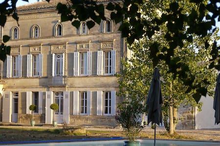 Château la Maronne - Chambre végétale - Mauriac - Pension