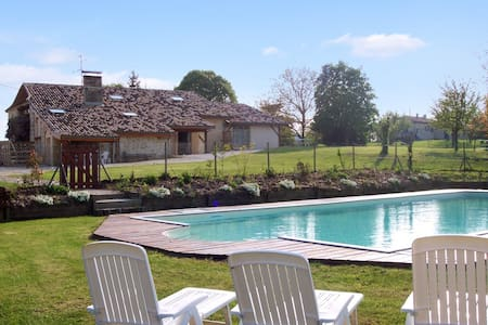 Country house with large pool - Agnac - Hus