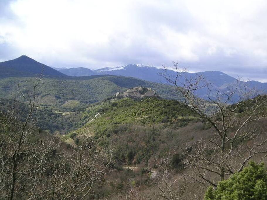general view of the surrounding countryside that you can walk for 300 kms in