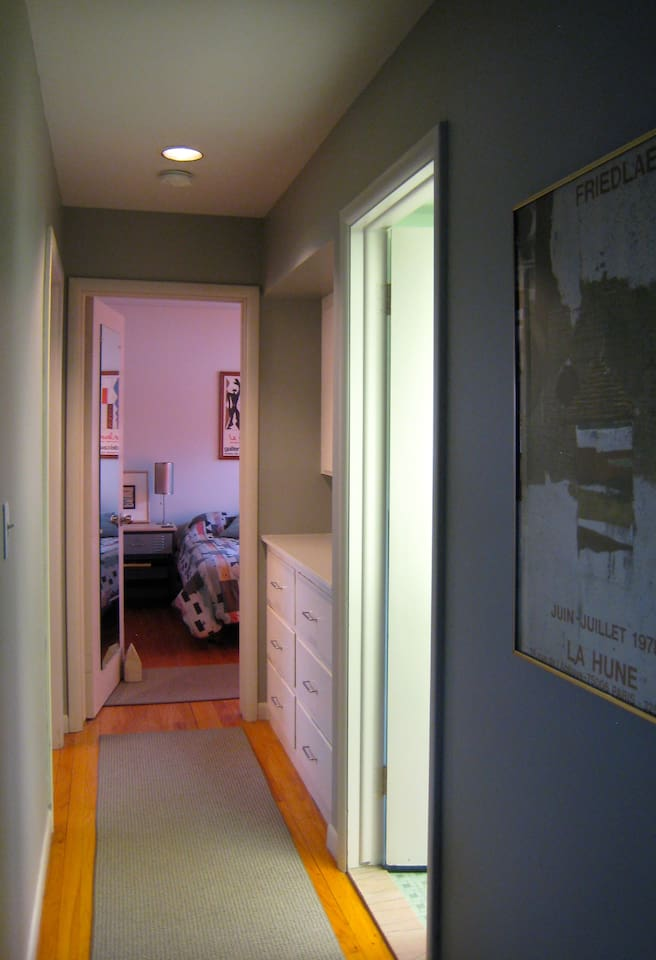 separate hall with 2 bedrooms & bath