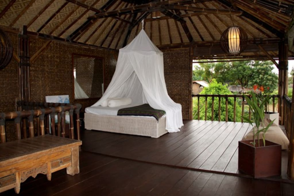 Relaxing Lounge.With Bed 1,40 Meter to 2 Meter. View of the Living room Upstairs.