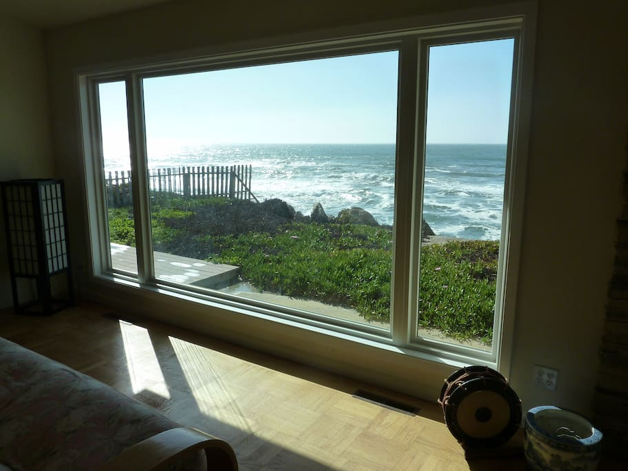 This is a view from our living room facing the Pacific Ocean.