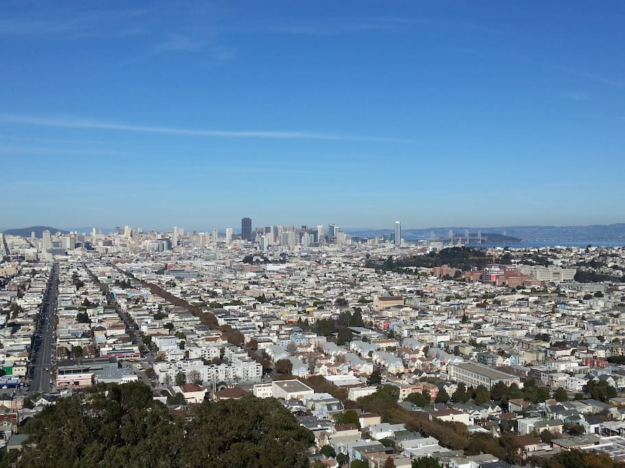 View of downtown SF, just a few blocks away from Noe Valley