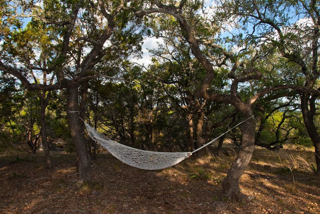 Read a book or take a nap in the wonderful oversize hammock