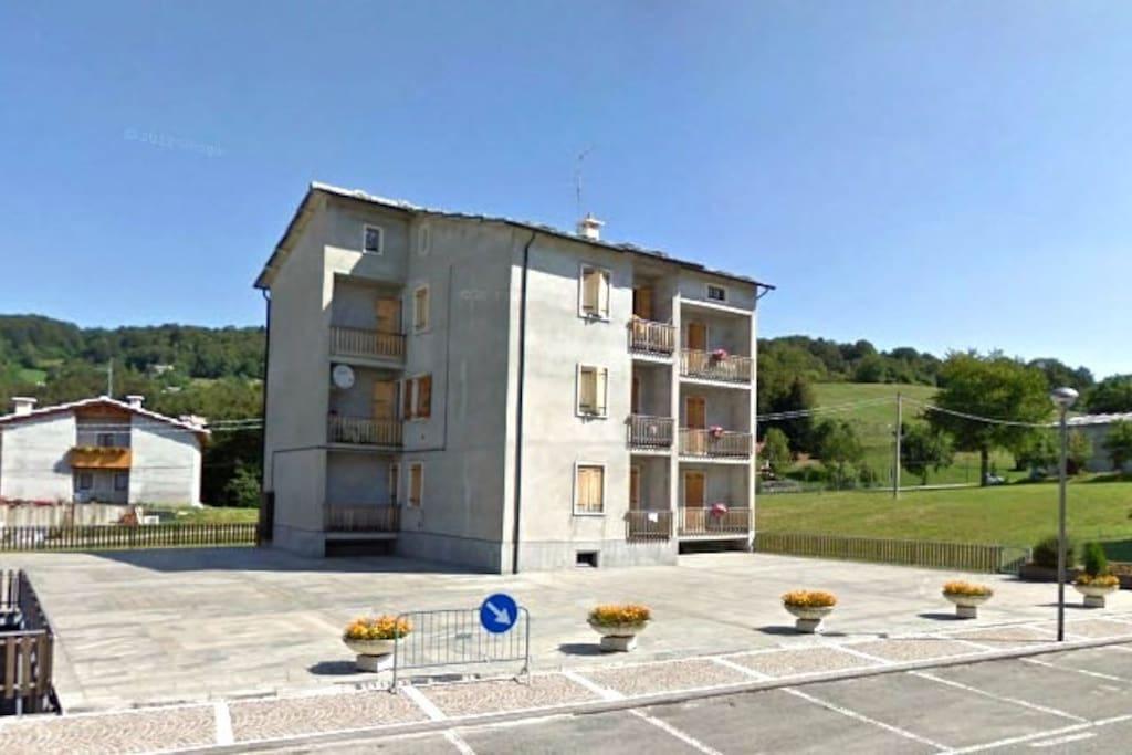 La facciata della casa a S.Francesco di Roverè Veronese (VR)