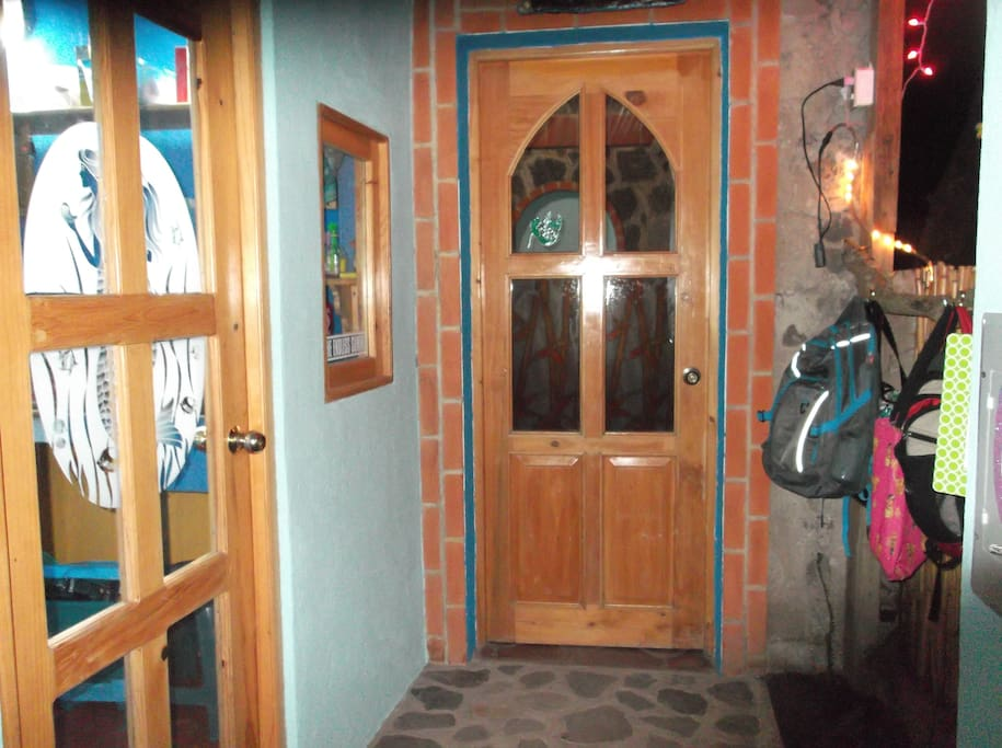 Entrance doors to the Casita and Kitchen.