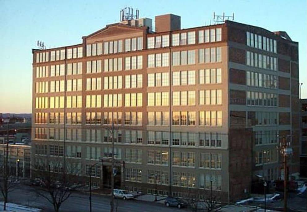 Glassworks Building exterior.