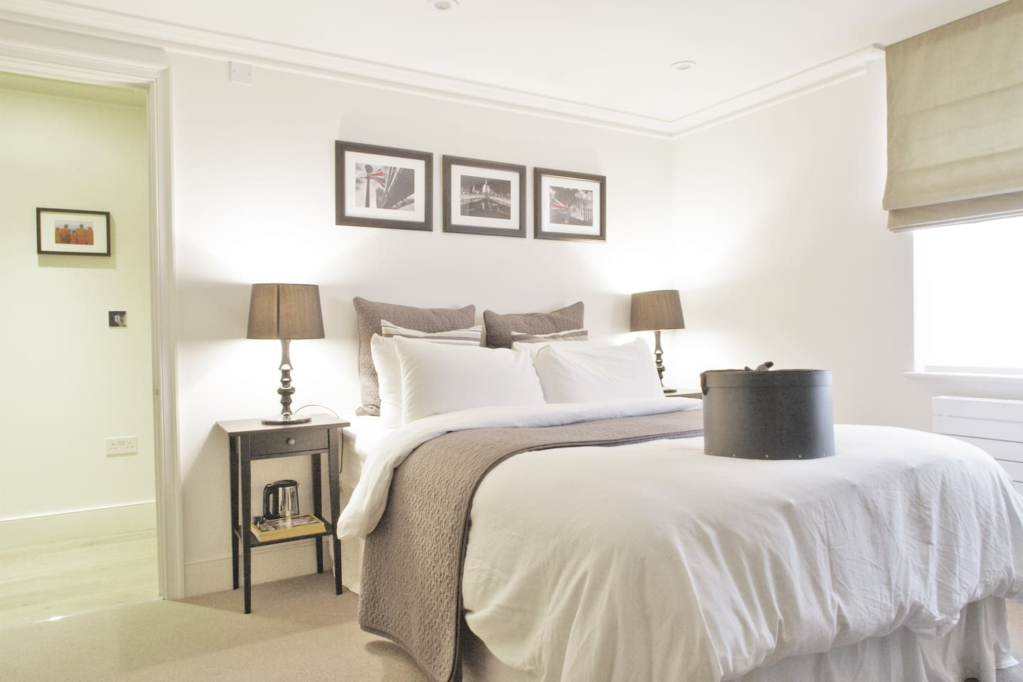 Your room, on your own private floor, with your own private entrance and a king sized bed with layers of the best quality down and 400 thread count Egyptian cotton sheets
