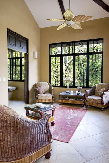 Living Room.. french doors to front deck... french doors to bedroom