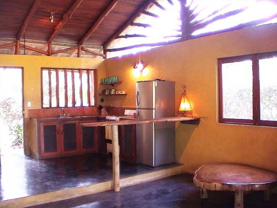 Open Concept Beach House in quiete village near Momtezuma