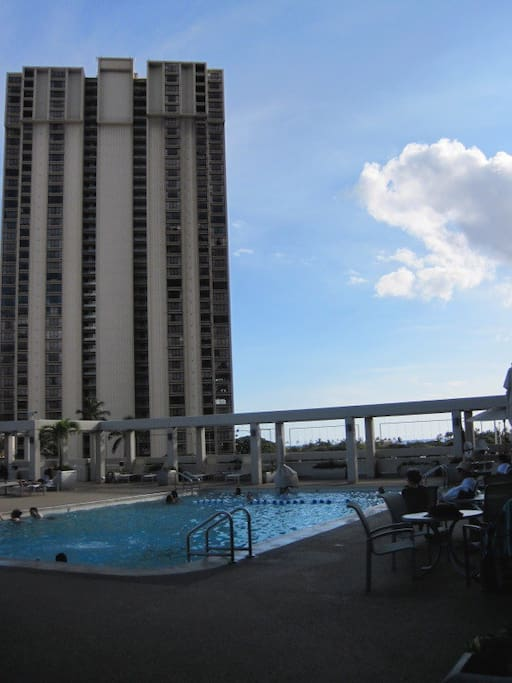 Pool on 3rd floor next to Fitness Center