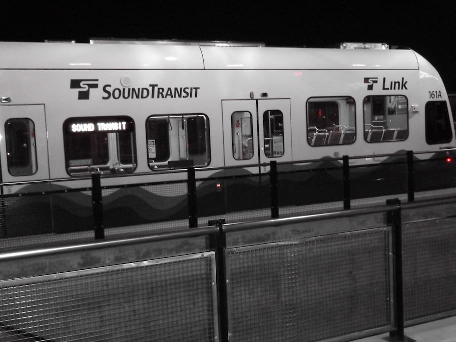 Transit to downtown from airport.  There are 11 stops in between.  Westlake station is your stop.