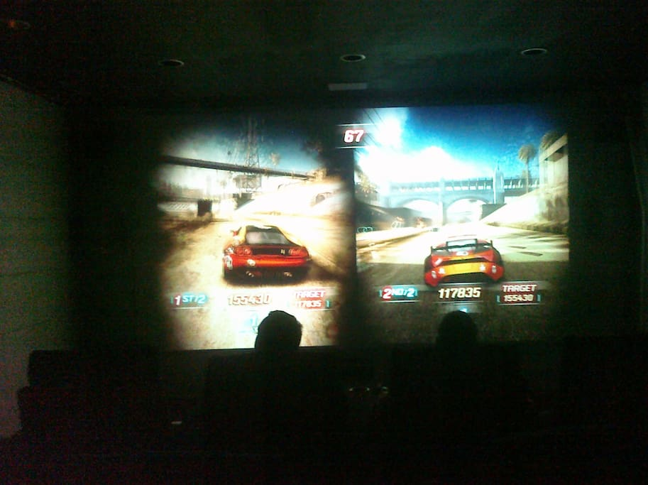 Theatre 16' screen, xbox and Playstation  and over 750 movies