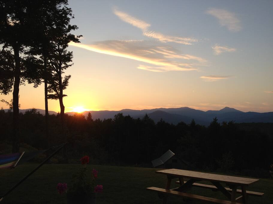 Sunset from the front deck