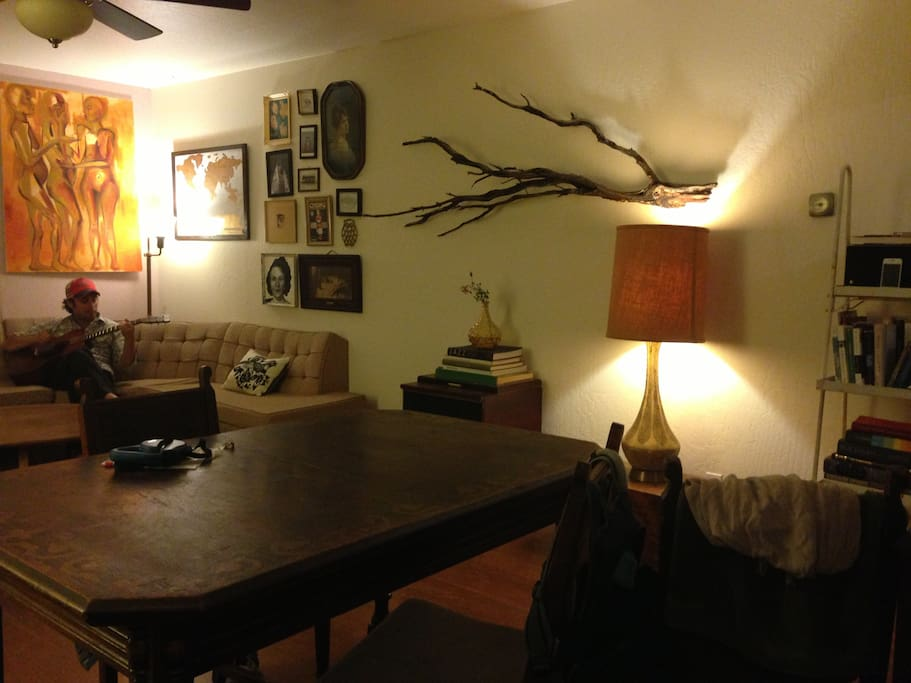 The living room/dining room.