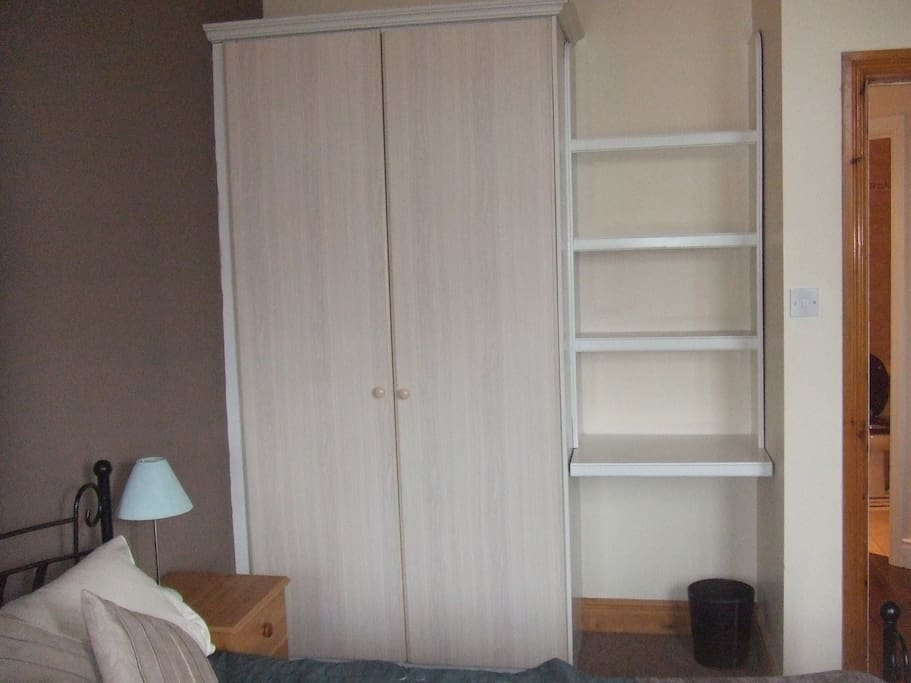 Double wardrobes and storage in bedroom