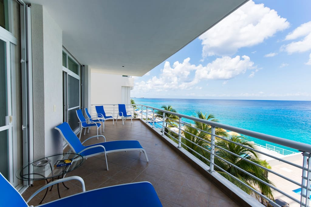 Expansive balcony with access from the living room as well as both master bedrooms