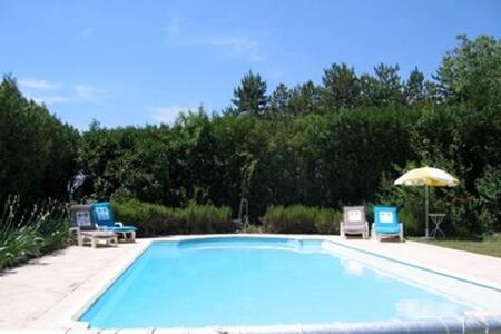 Gite appart. Rafiki - au calme, piscine, jardin - Daire