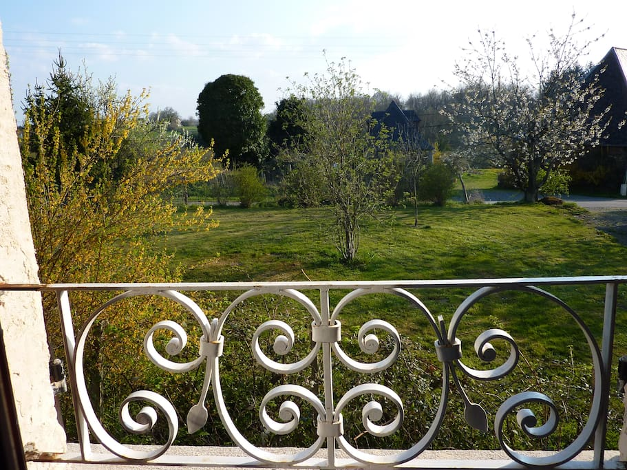 The view from upstairs from the bedroom in La Petite Maison