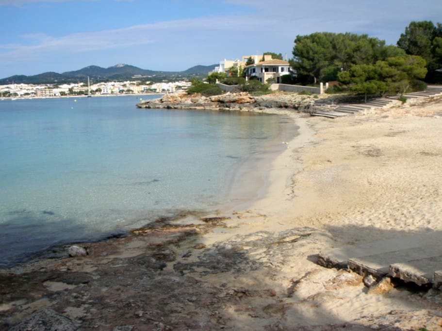 S'arenal gros, family beach 15 minutes walking as well