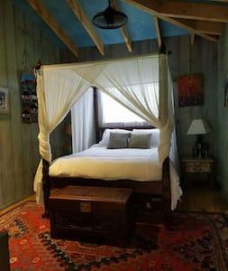Unique upscale rustic Garden House - Brooktondale - Blockhütte