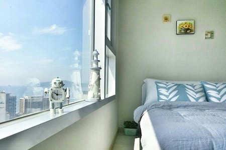 BIG sale! :cozy and fantastic view최고의 해운대 숙소.지하철역☺ - Appartamento