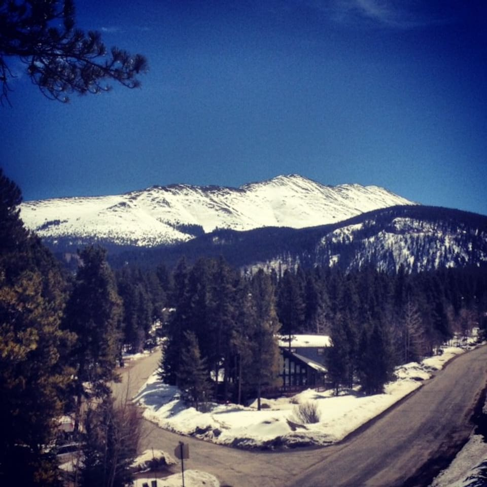 View of Baldy Mountain from the deck