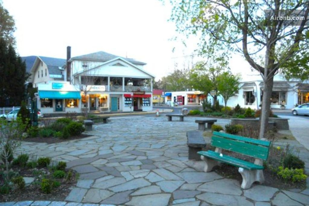 The Village Green town center where special musical events occur on weekends