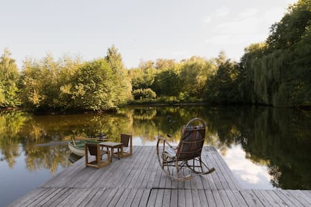 A lovely lake house- 25 mins from Warsaw downtown - Srub