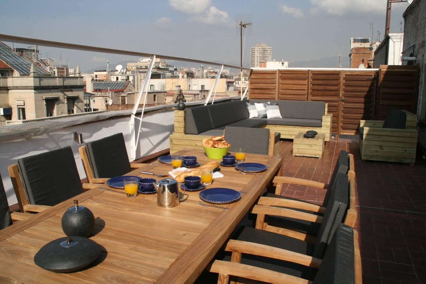 Enjoy the terrace for breakfast