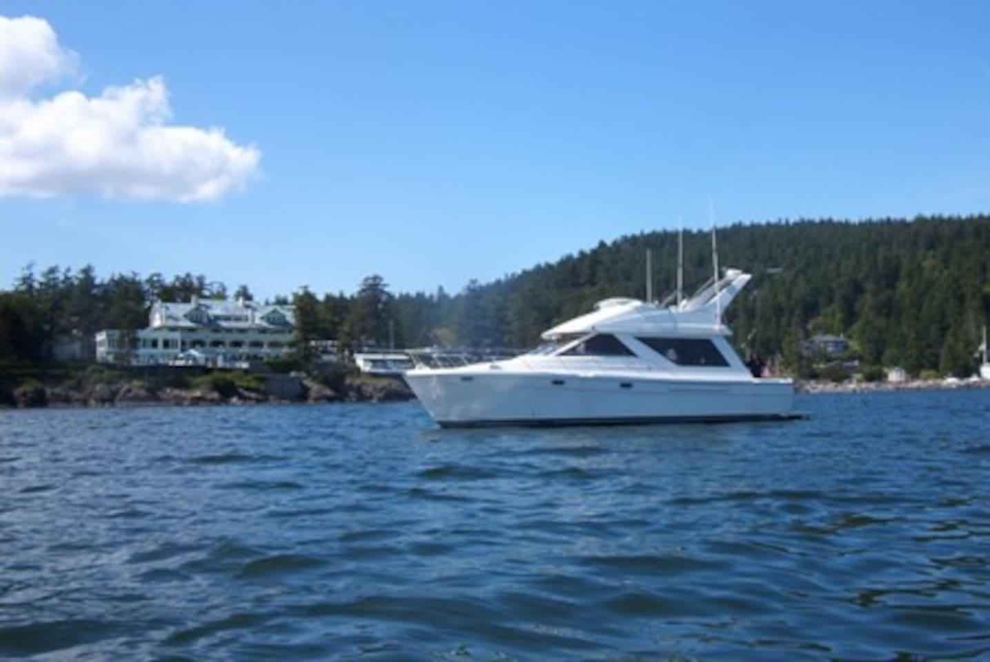 Yacht on Charter in the San Juans