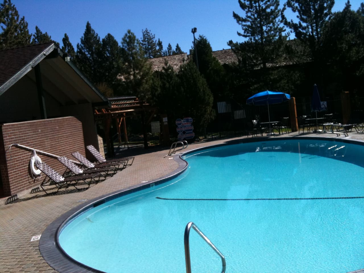 Adult pool and hottub (larger kids pool 200 feet away)