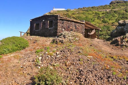 Little house above the sea-Ustica  - Island