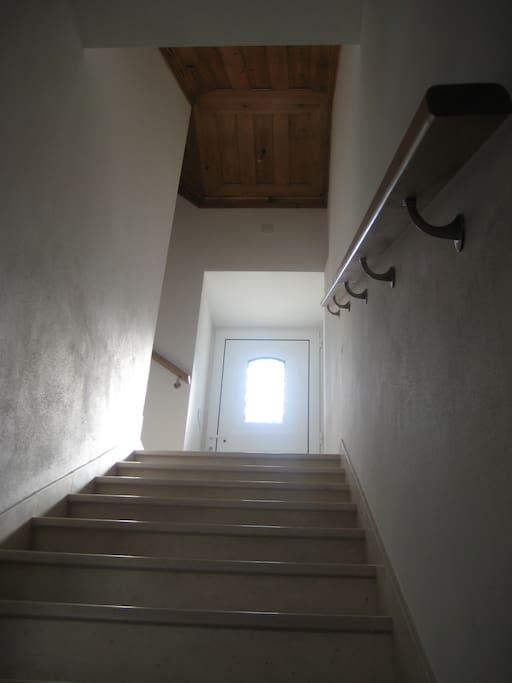 Stairs leading to the first floor