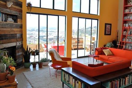 Sunny Designer Loft with Garden Deck(in city SF) - San Francisco