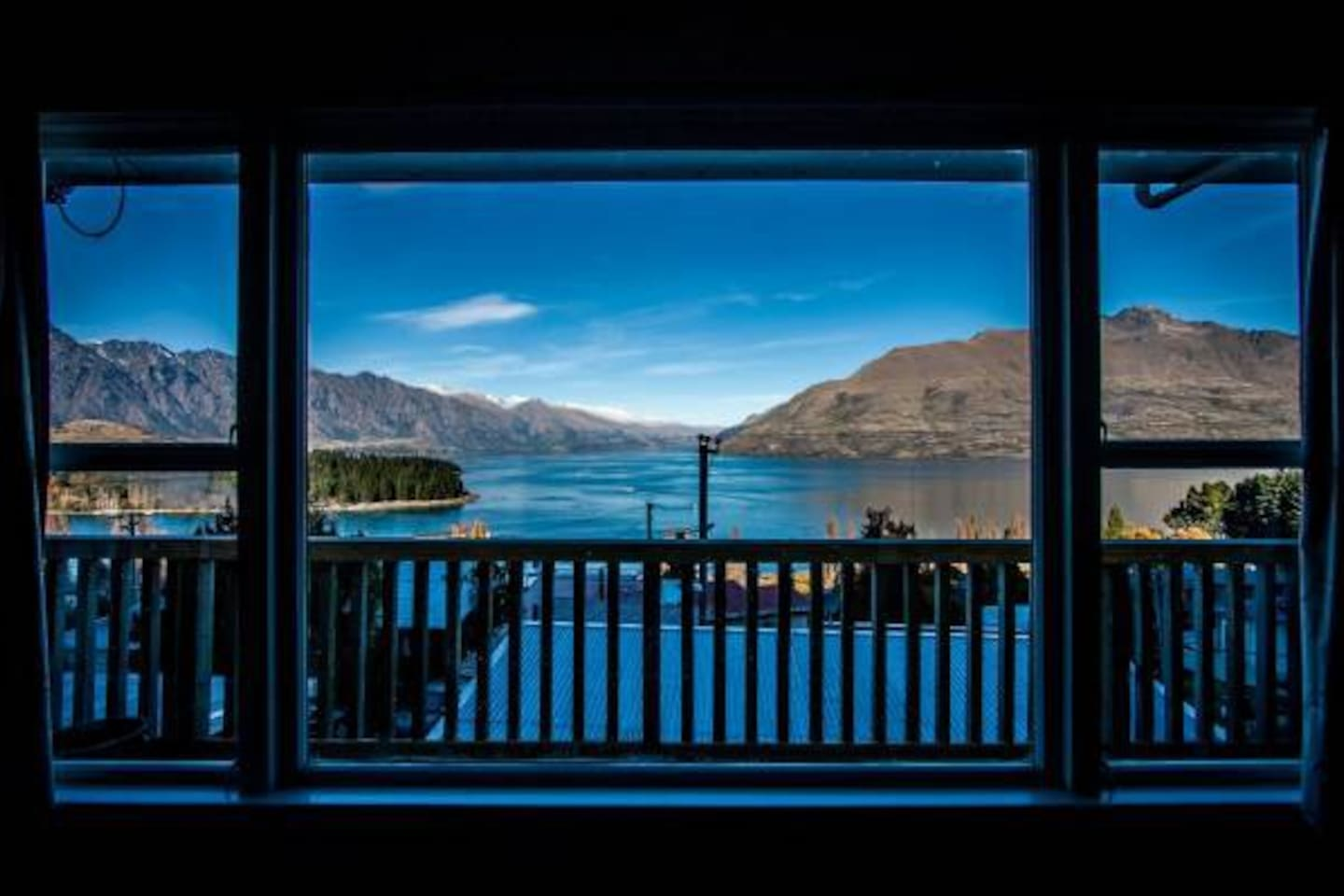 Magnificent View from the Lounge of the Beautiful Lake Wakatipu