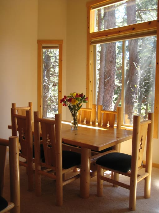 Enjoy a meal in our beautiful light-filled dining area with seating for 6