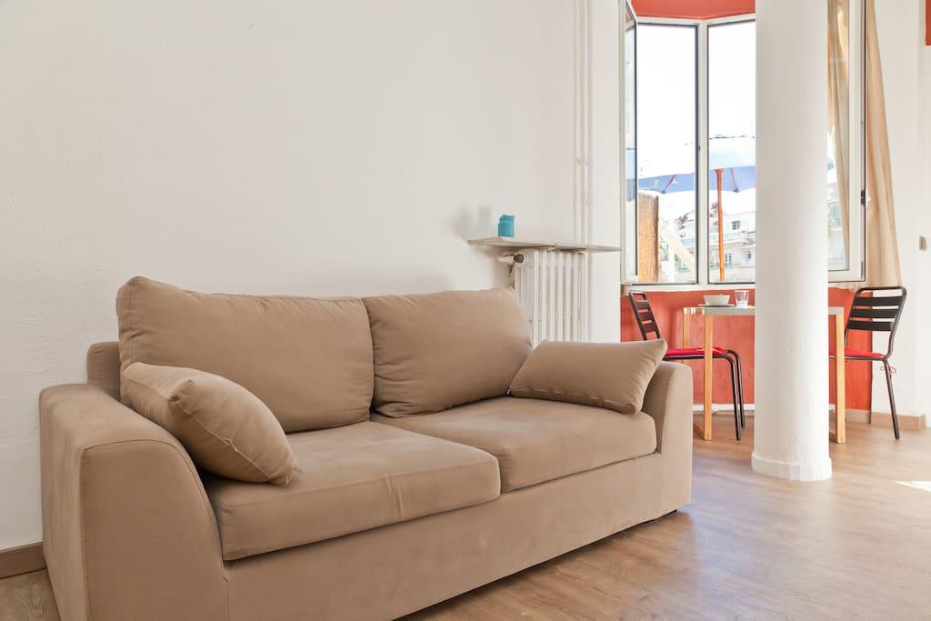 canapé-lit séjour