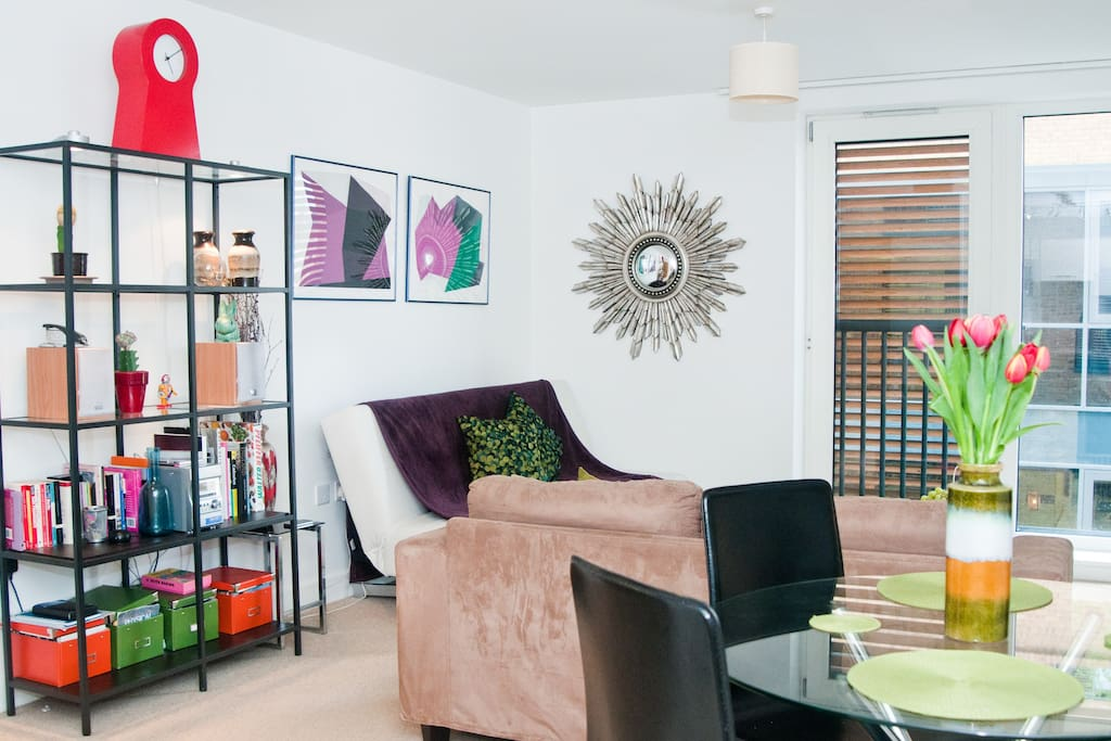 Spacey living room with juliet balcony. Bright and airy...
