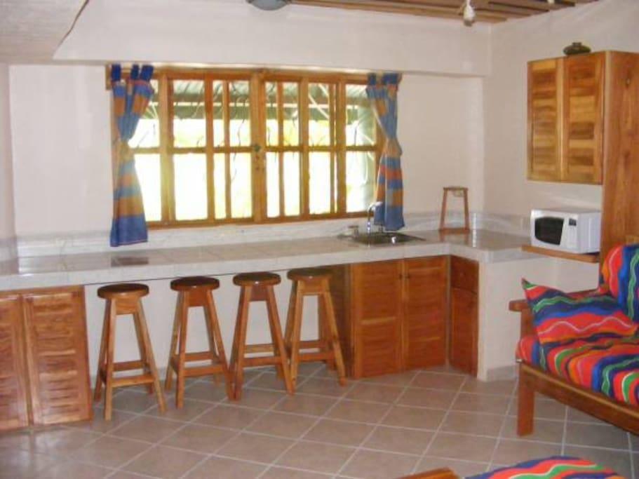 Villa 4 Kitchen/Dining Area (Mirror image of Villa 2)