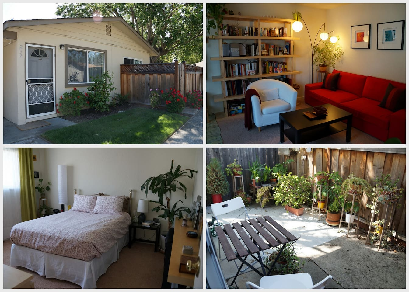 Bright, modern, friendly, relaxing. Guests love it!