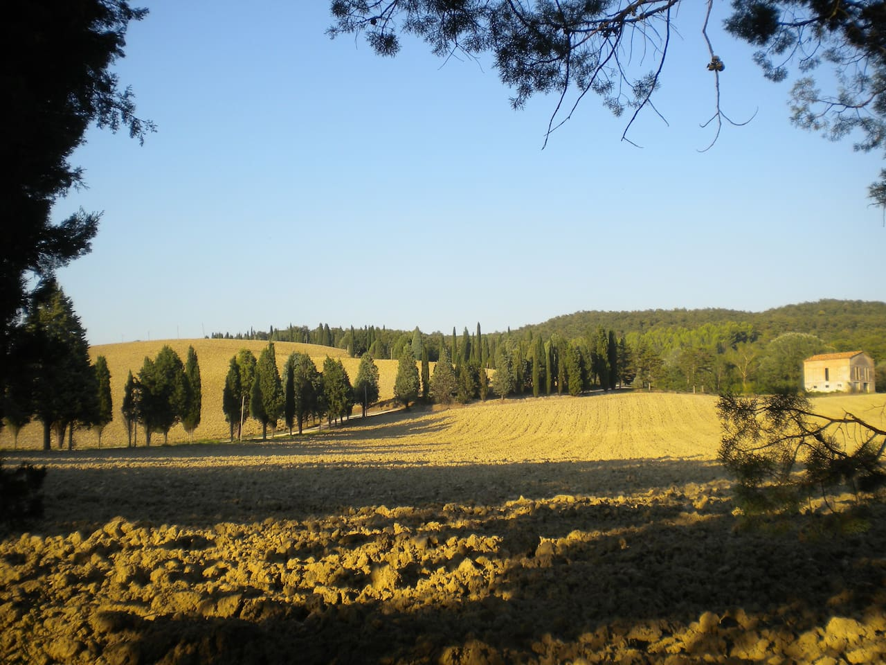 Landscape in valley below