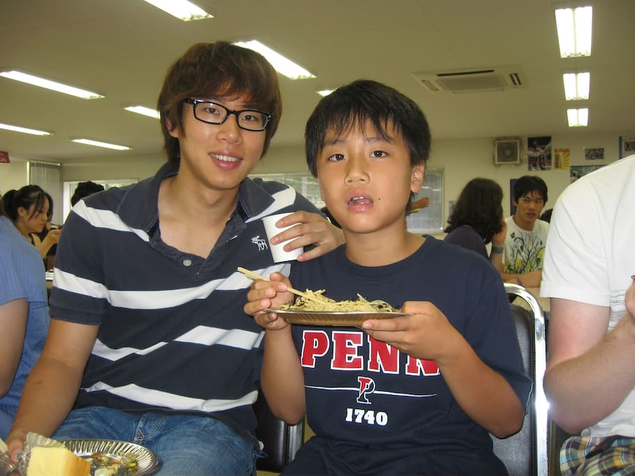 with a Korean guest from US(Univ of Penn). He is currently studying at Kyoto Univ MBA course.