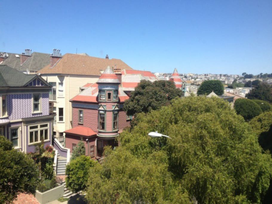This is the view of Gorgeous Victorians across from my condo