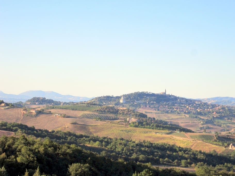 View of Todi from terrace